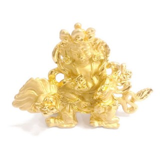 【十相自在】5.9公分 小佛像/法像-金色(財寶天王)