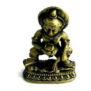 【十相自在】6.1公分 小佛像/法像-古銅色(黑財神)