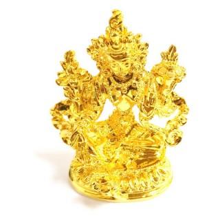 【十相自在】5.8公分 小佛像/法像-金黃色(綠度母)