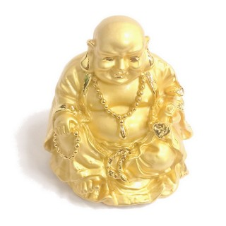 【十相自在】5.3公分 小佛像/法像-金色(彌勒佛)