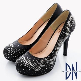 【DN】幸福婚鞋 獨家訂製款bling水鑽高跟晚宴鞋(黑)
