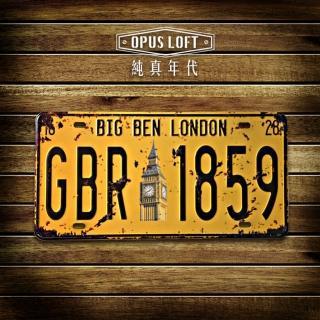 【OPUS LOFT純真年代】仿舊鐵皮車牌/壁飾/壁貼(TP-017 倫敦大笨鐘)