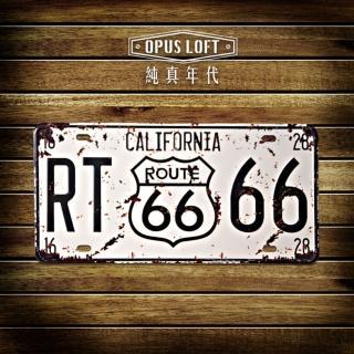 【OPUS LOFT純真年代】仿舊鐵皮車牌/壁飾/壁貼(TP-026 california)