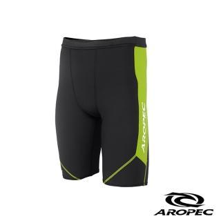 【AROPEC】Compression Shorts Ⅱ 男款運動機能短褲(黑/萊姆綠)