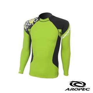 【AROPEC】Compression II 男款運動機能壓力衣(長袖 萊姆綠/黑)