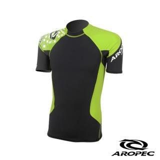 【AROPEC】Compression II 男款運動機能壓力衣(短袖 黑/萊姆綠)