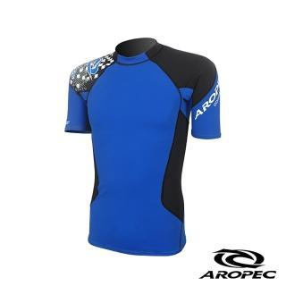 【AROPEC】Compression II 男款運動機能壓力衣(短袖 藍/黑)