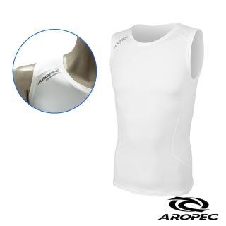 【AROPEC】Compression II 男款運動機能壓力衣(背心 白)