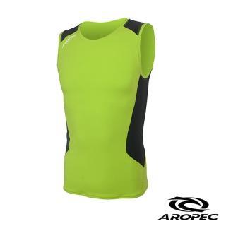 【AROPEC】Compression II 男款運動機能壓力衣(背心 萊姆綠/黑)