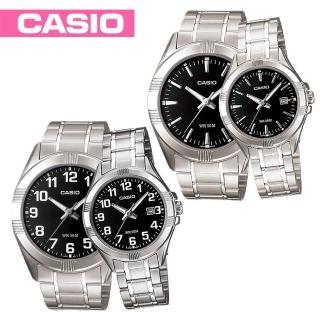 【CASIO 卡西歐】甜蜜浪漫情侶對錶(MTP-1308D+LTP-1308D)