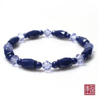 【金石工坊】青金石手鍊-繽紛色彩奧地利紫水晶
