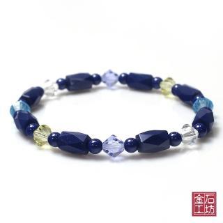 【金石工坊】青金石手鍊-繽紛色彩奧地利水晶