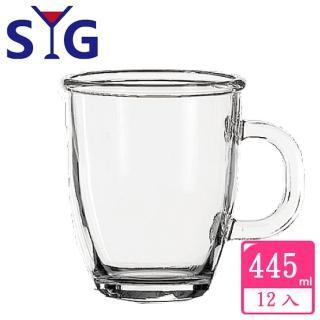 【SYG】透明玻璃拿鐵杯445cc(12入組)