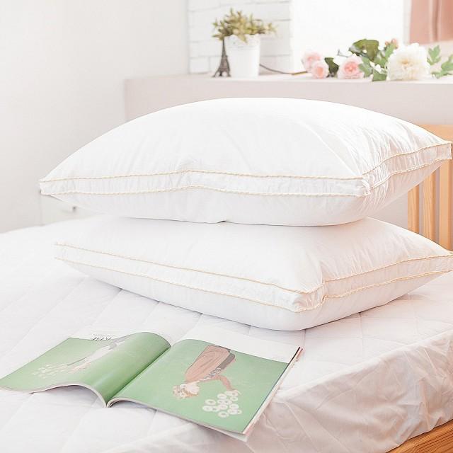 【Lust 生活寢具 台灣製造】98%匈牙利鵝絨枕立吋七星級/總統套房專用羽絨枕