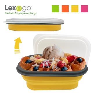 【Lexngo】可折疊快餐盒中(餐盒 碗盤 廚具 便當)