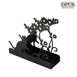 【OPUS東齊金工】歐式鐵藝信件架/收納架/展示架/文具擺飾(貓咪 le-ca02)