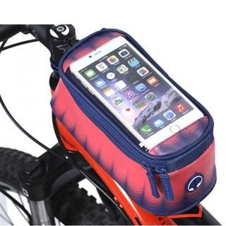 【PUSH!自行車用品】加大碼自行車前置物袋 手機袋 上管袋 工具袋可裝5.7吋屏手機(A61)