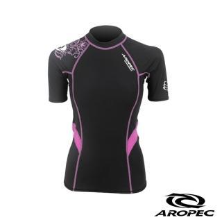 【AROPEC】Compression II 女款運動機能衣(短袖 黑/紫)