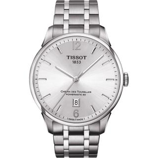 【TISSOT】杜魯爾系列機械動力80腕錶-銀/42mm(T0994071103700)