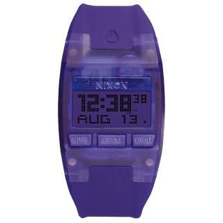 【NIXON】COMP S 浪花海潮休閒運動電子錶-紫x小(A3362045)