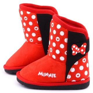 【童鞋城堡】迪士尼 中童 米妮俏皮中筒靴(454612-紅)