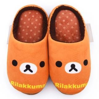 【童鞋城堡】拉拉熊 造型保暖絨毛室內拖(KM26084-棕)