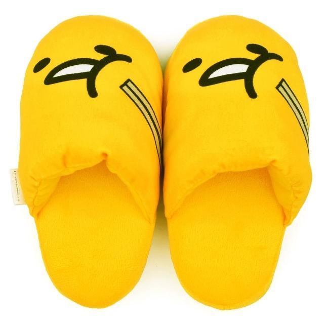 【童鞋城堡】蛋黃哥 俏皮造型絨毛保暖室內拖(GU0690-黃)
