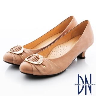【DN】優雅名媛 MIT柔軟珠光羊皮低跟娃娃鞋(裸)