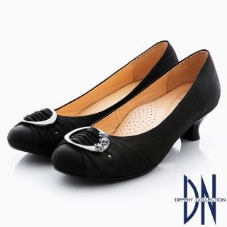 【DN】優雅名媛 MIT柔軟珠光羊皮低跟娃娃鞋(黑)