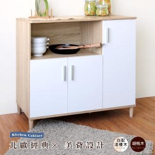 【Hopma】三門四格廚房櫃(廚房櫃/置物櫃/邊櫃/隔間櫃)