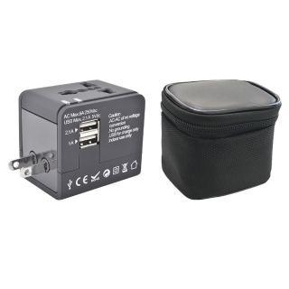 【西歐科技】雙USB萬用多國充電器(CME-AD01-3)