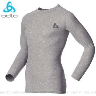 【瑞士 ODLO】WARM EFFECT 男專業機能型銀離子保暖內衣(深麻灰 152022)