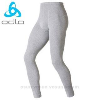 【瑞士 ODLO】warm effect 男機能型銀離子保暖長褲(深麻灰.152042)