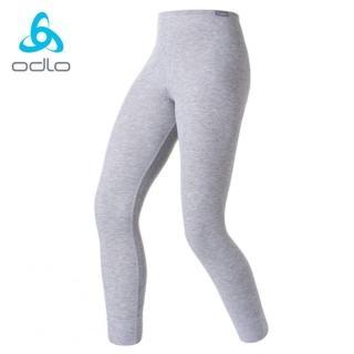 【瑞士 ODLO】effect 兒童.女頂極機能型銀離子保暖長褲(深麻灰.10419)