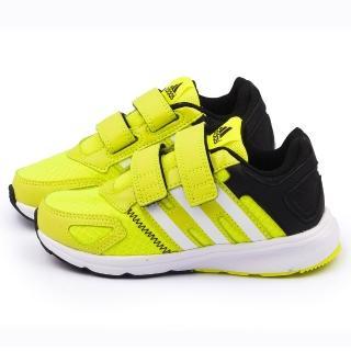 【Adidas】中大童 輕量避震運動跑鞋(S77639-黃)