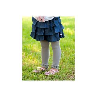 【美國 RuffleButts】小公主甜美荷葉邊內搭褲/襪_灰色(RBRT005)
