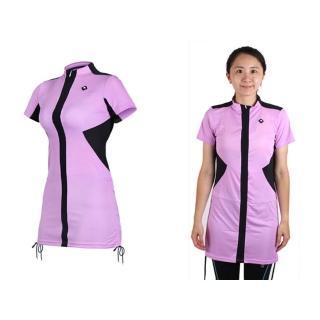 【SOOMOM】SOGK 女伊奧文連身裙-短袖車衣 單車 自行車(淺紫)