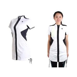 【SOOMOM】SOGK 女伊奧文連身裙-短袖車衣 單車 自行車(白黑)