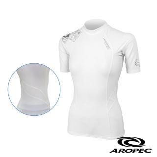 【AROPEC】Compression II 女款運動機能衣(短袖 白)