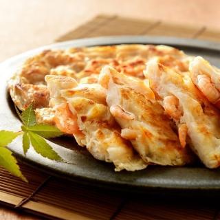 【鮮食家任選799】興達港歐董月亮花枝蝦餅(360g/2片/包)
