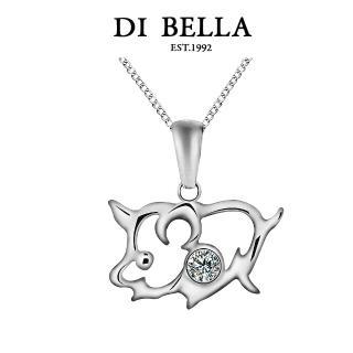 【DI BELLA】豬事大吉 天然鑽石項鍊(12生肖系列)