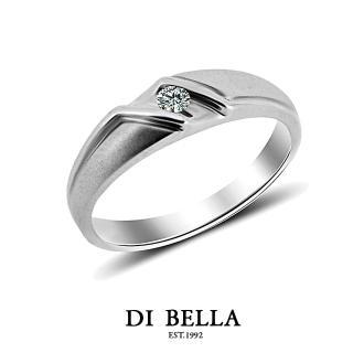 【DI BELLA】FUTURE真鑽情人戒指(男款)