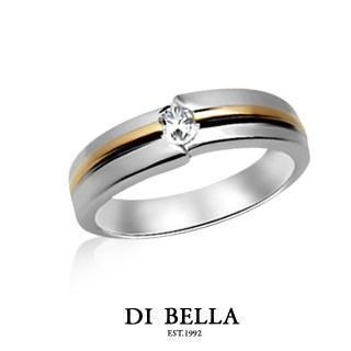 【DI BELLA】DREAM LOVE 真鑽情人戒指(男款)