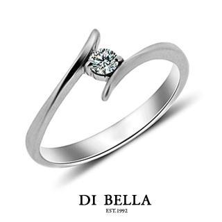 【DI BELLA】LOVER真鑽情人戒指(女款)