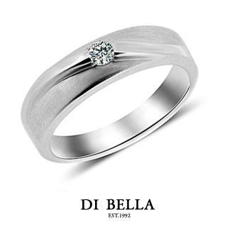 【DI BELLA】LOVER真鑽情人戒指(男款)