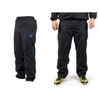 【FIRESTAR】男刷毛長褲-保暖長褲 運動長褲(黑水藍)