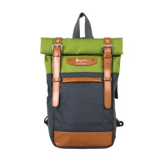 【estilo】時尚玩色系列 撞色設計 兩用單肩包/後背包(綠)