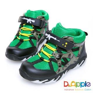 【Dr. Apple 機能童鞋】阿兵哥帥氣迷彩步槍中筒童靴(綠)