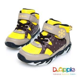 【Dr. Apple 機能童鞋】白雪飄飄溫暖中筒童靴(黃)