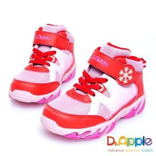 【Dr. Apple 機能童鞋】白雪飄飄溫暖中筒童靴(粉)